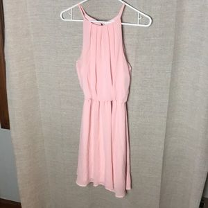 Pink bridesmaid style dress